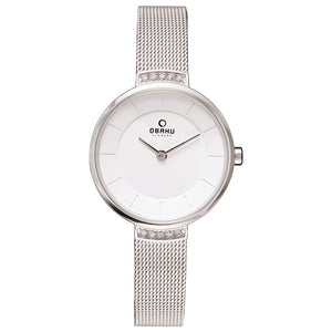 Obaku Lys Steel Ladies Silver Solar Watch 206LRCWMC
