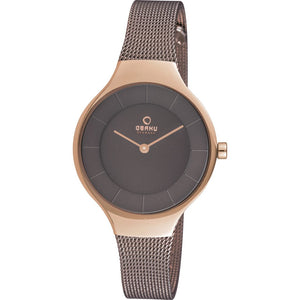 Obaku Ekko Granite Ladies Two Tone Watch V166LXVNMN