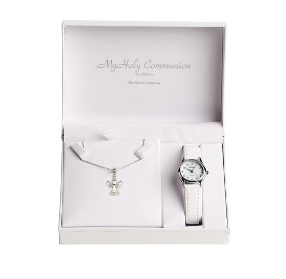 First Holy Communion Watch & Angel Chain Set