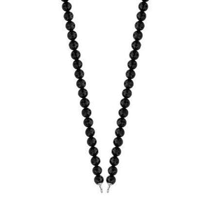Ti-Sento Milano Black Bead Charm Necklace