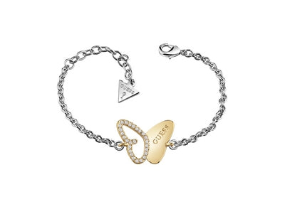 Guess Mariposa Two Tone Silver and Gold