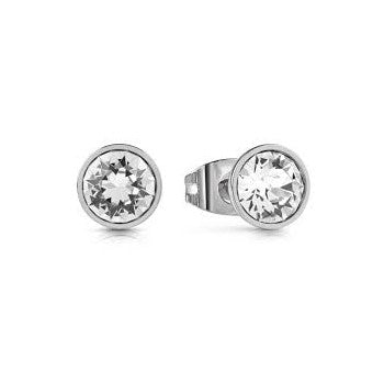 "GUESS ""UPTOWN CHIC"" SILVER EARRING"