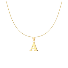 9ct YELLOW GOLD INITIAL NECKLACE