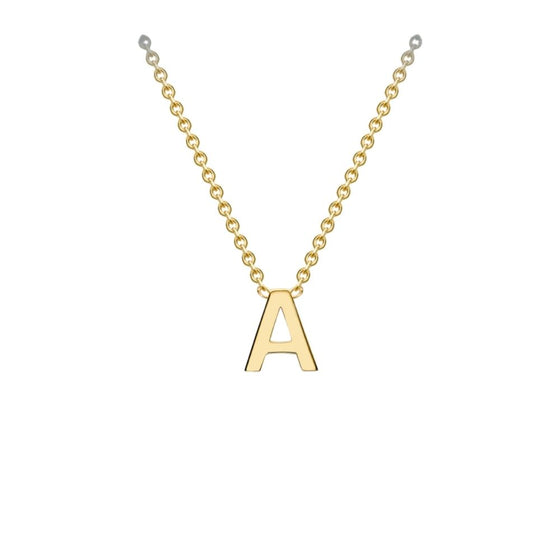 9ct Yellow Gold Petite Initial Necklace