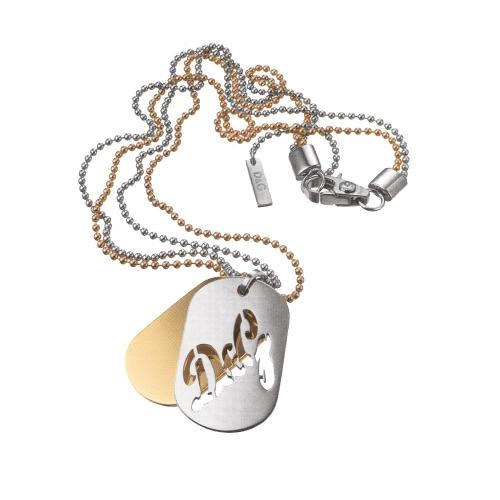 Dolce & Gabbana Two Tone Stainless Steel Dog Tags