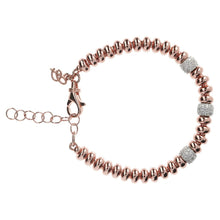 Bronzallure Golden Rosé Spacer Beads and CZ Bracelet