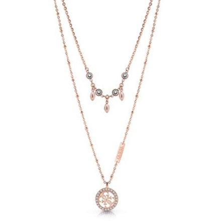 "Guess ""Tropical Sun"" Rose Gold Necklace"