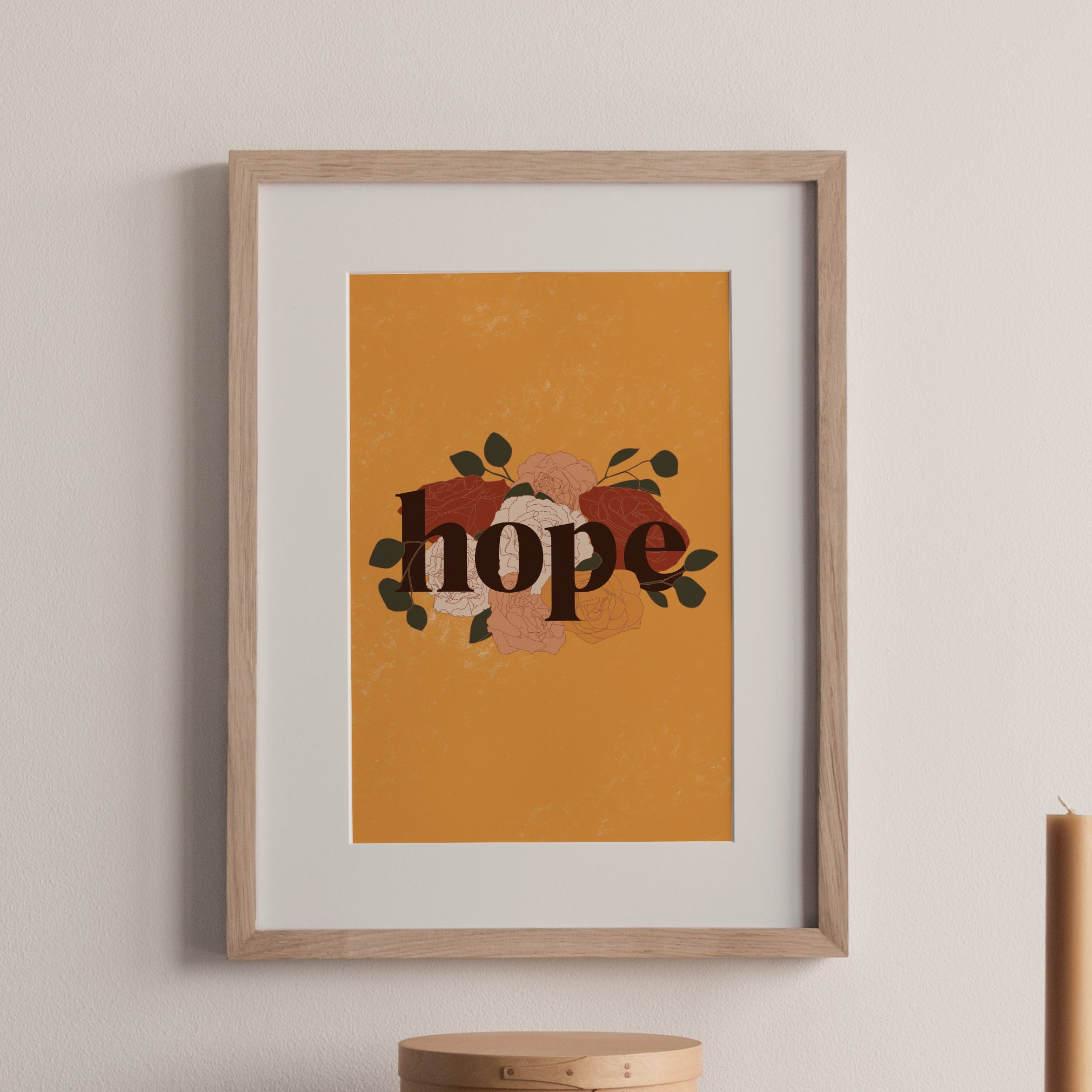 Hope Floral Print Yellow