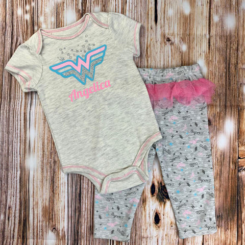 Personalized Baby Apparel Wonder Woman