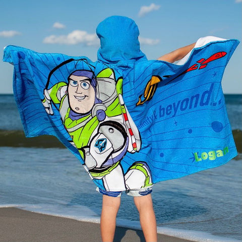 Personalized Hooded Beach Pool Towel for Kids