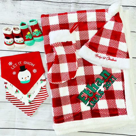 Personalized Holiday Gift Set for Baby