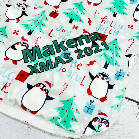 Personalized Holiday Baby Blanket