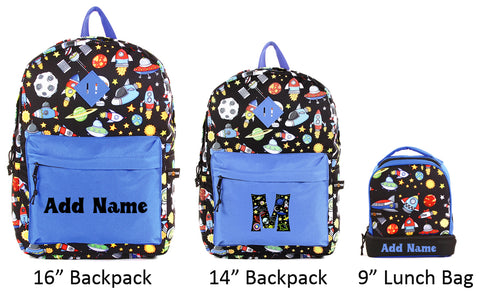 Personalized School Backpacks and Lunch Bags