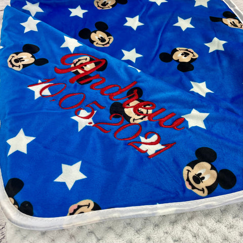 Personalized Disney Baby Blanket Mickey Mouse