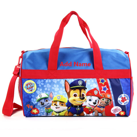 Personalized Travel Duffel Bag for Kids Paw Patrol