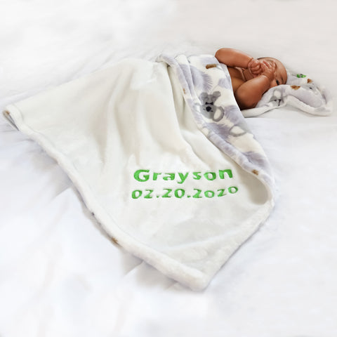 Personalized Baby Blanket - Baby Shower Gift