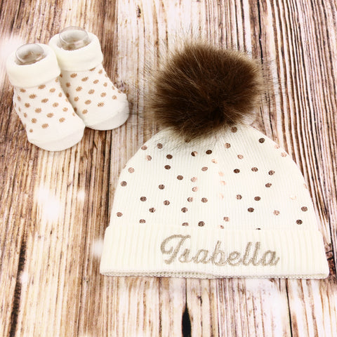 Personalized Baby Hat Baby Shower Gift