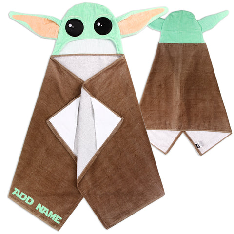 Personalized Baby Yoda Towel for Kids