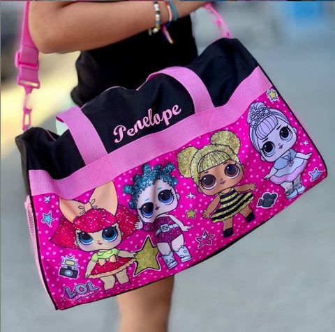 Personalized Travel Duffel Bag featuring LOL Surprise