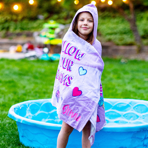 Personalized Hooded Beach Towel for Kids