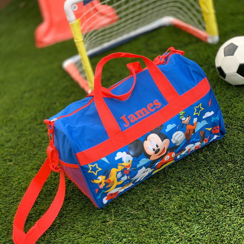 Personalized Travel Duffel Bag featuring Disney Mickey Mouse