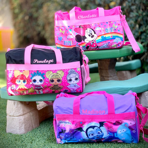 Personalized Travel Duffel Bags featuring Paw Patrol