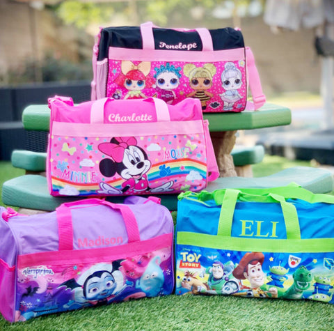 Personalized Travel Duffel Bags for Kids