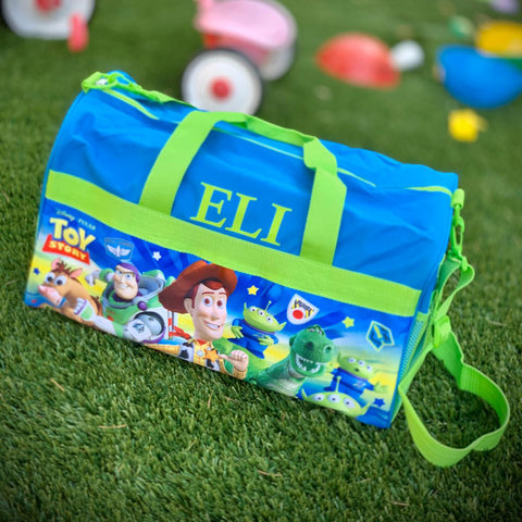 Personalized Travel Duffel Bag featuring Toy Story