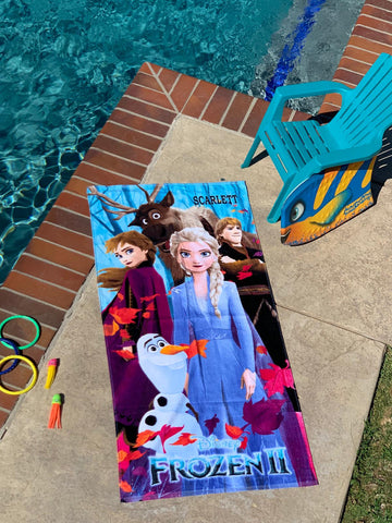 Personalized Disney Towel Frozen