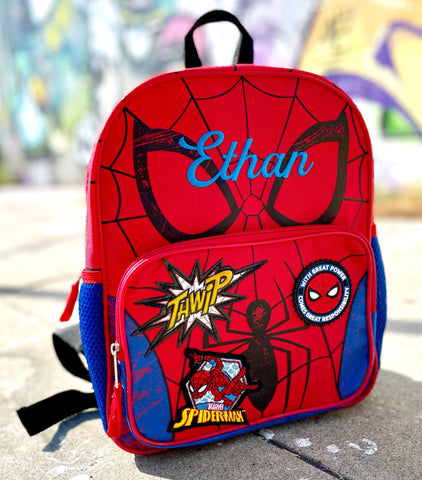 Personalized Spiderman Backpack