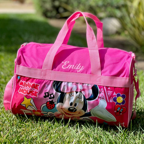 Personalized Travel Duffel Bag for Kids Minnie Mouse