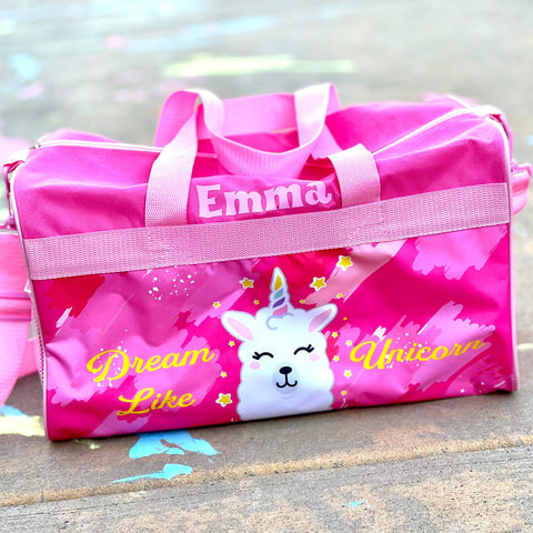 Personalized Travel Duffel Bag for Kids