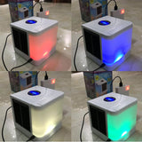 2020 New Humidifiers Mini Air Conditioner Fans USB Portable Air Cooler Table Fan For Office Refrigerating Device 7 Color Lights