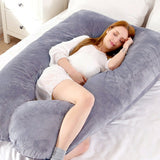 Hot Full Body Bed Pregnancy Pillow U Shape Comfortable Cotton Support Cushion Long Sleeping Multifunctional Maternity Pillows