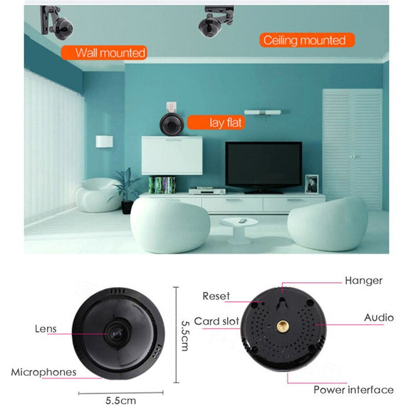 Home Security Mini WiFi 1080P IP Camera Wireless IR Night Vision Motion Detection Mobile Phone APP Remote Surveillance Camera