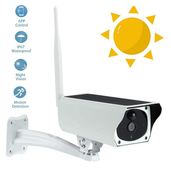 WIFI Wireless Solar Powered Surveillance IP Camera 1080P 2.0MP Waterproof Night Vesion Intercom Indoor Outdoor Security Camera