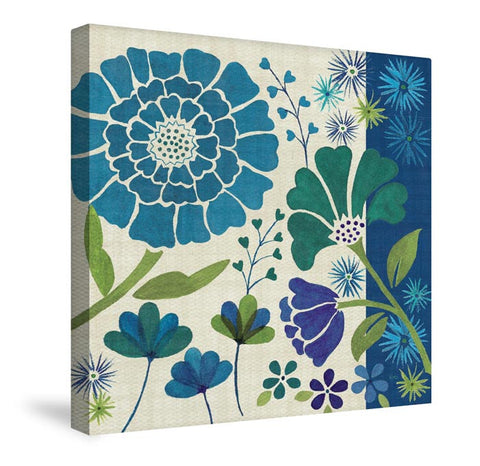 Blue Garden II Canvas Wall Art