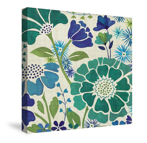 Blue Garden I Canvas Wall Art