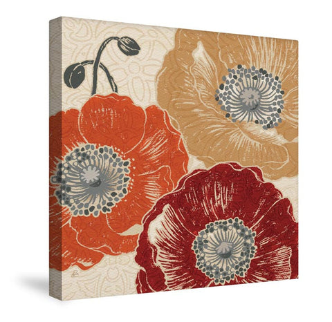 A Poppy's Touch III Canvas Wall Art