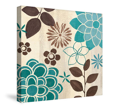 Abstract Garden Blue II Canvas Wall Art