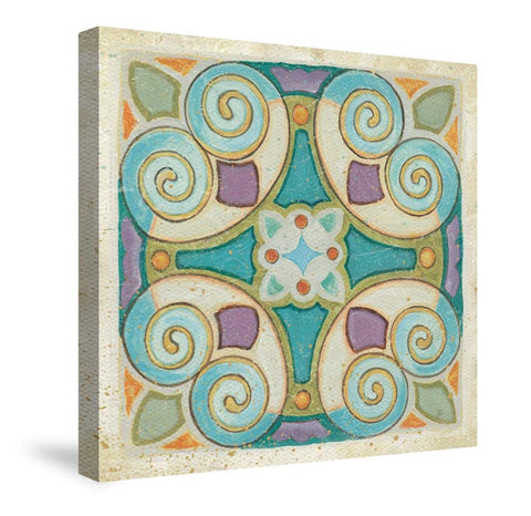 Birds Garden Tile I Canvas Wall Art