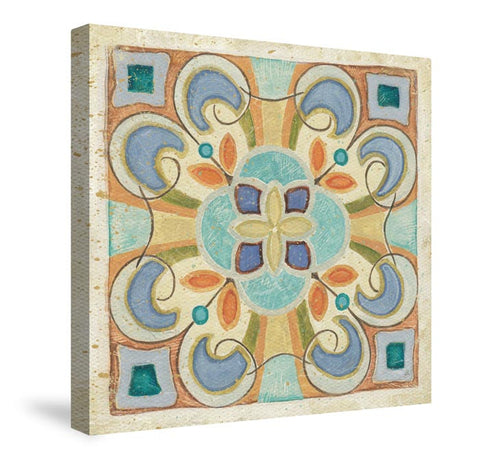 Birds Garden Tile II Canvas Wall Art