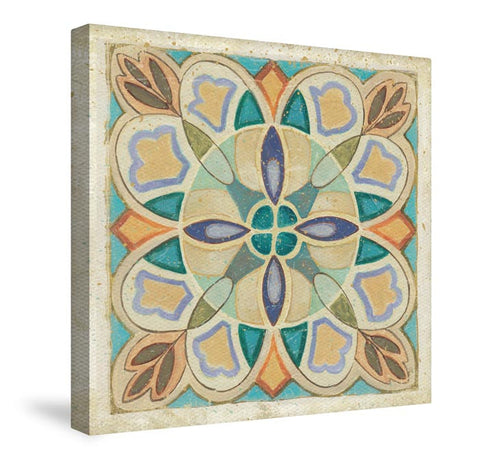 Birds Garden Tile III Canvas Wall Art