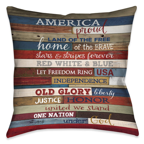 America Proud Indoor Decorative Pillow