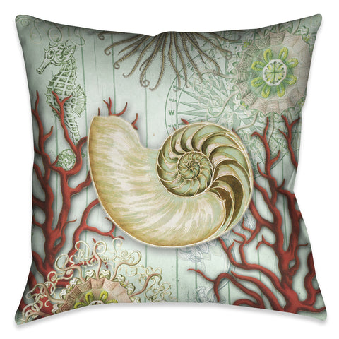 Seafoam Shell Indoor Decorative Pillow