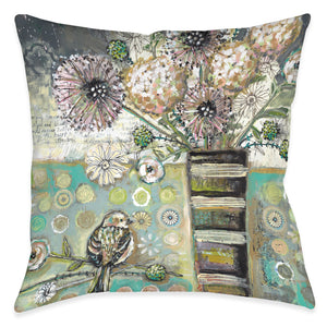 Bird and Bouquet Indoor Decorative Pillow