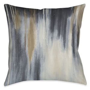 Blue and Brown Paysage Outdoor Decorative Pillow