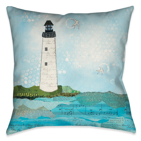 Coastal Notes II Indoor Decorative Pillow