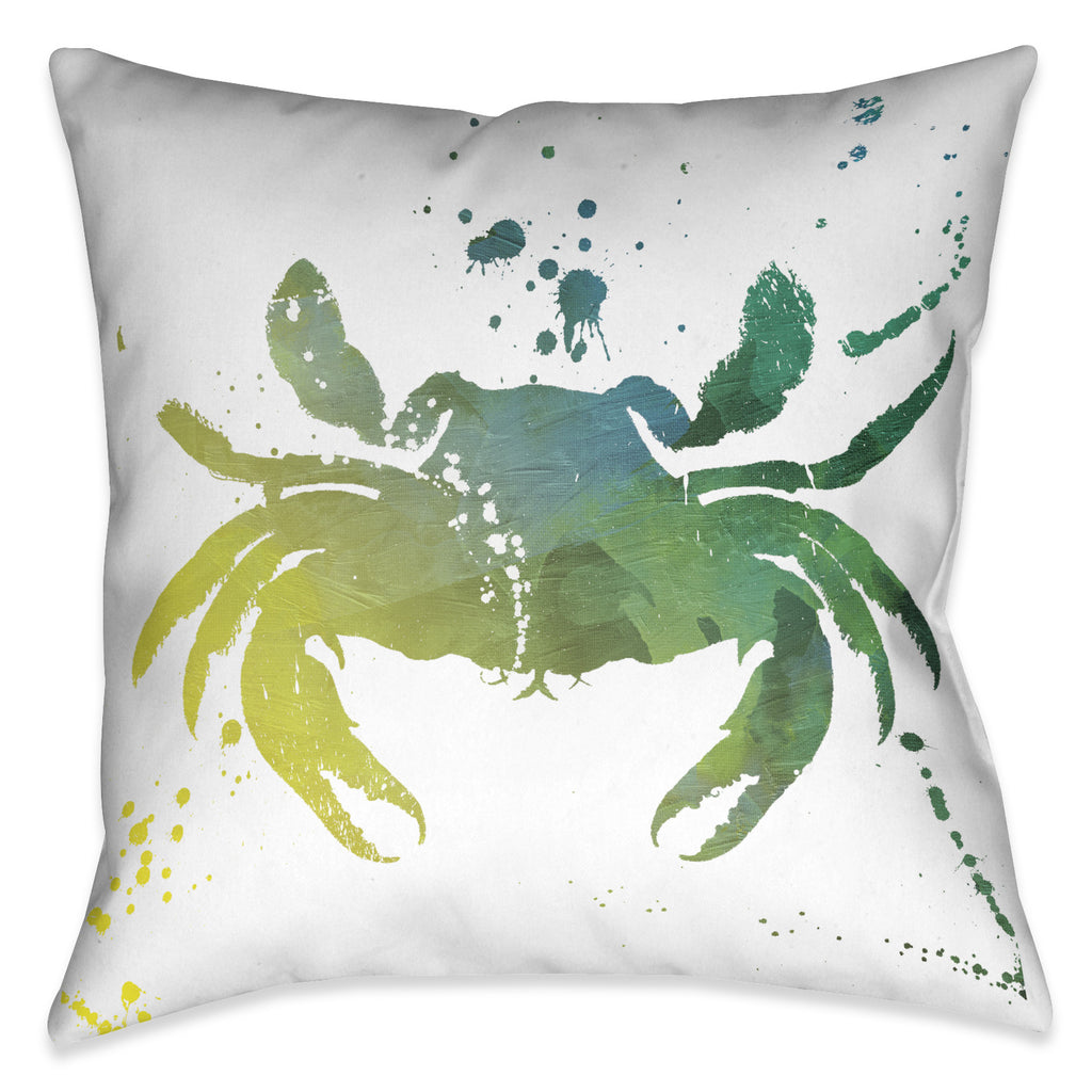Crab Splatter Indoor Decorative Pillow
