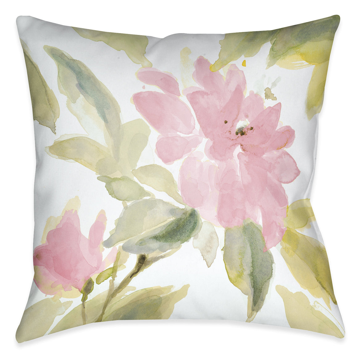 Pink Blooms Indoor Decorative Pillow